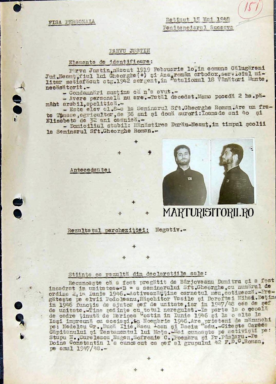 FISA PARINTELE Justin Parvu in Arhivele Securitatii - Civic Media - CNSAS - Marturisitorii Ro 1