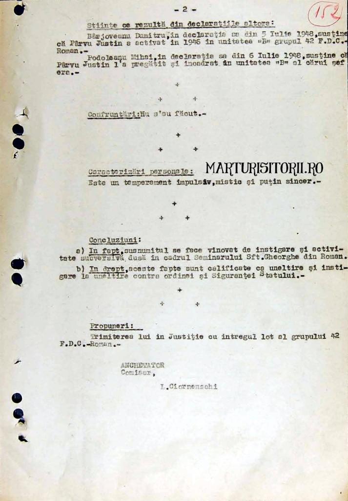 FISA PARINTELE Justin Parvu in Arhivele Securitatii - Civic Media - CNSAS - Marturisitorii Ro 2