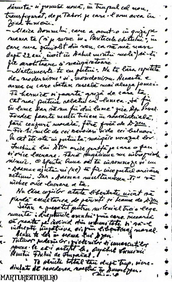 Testamentul lui Virgil Maxim catre fiica sa Tatiana - Marturisitorii Ro 3
