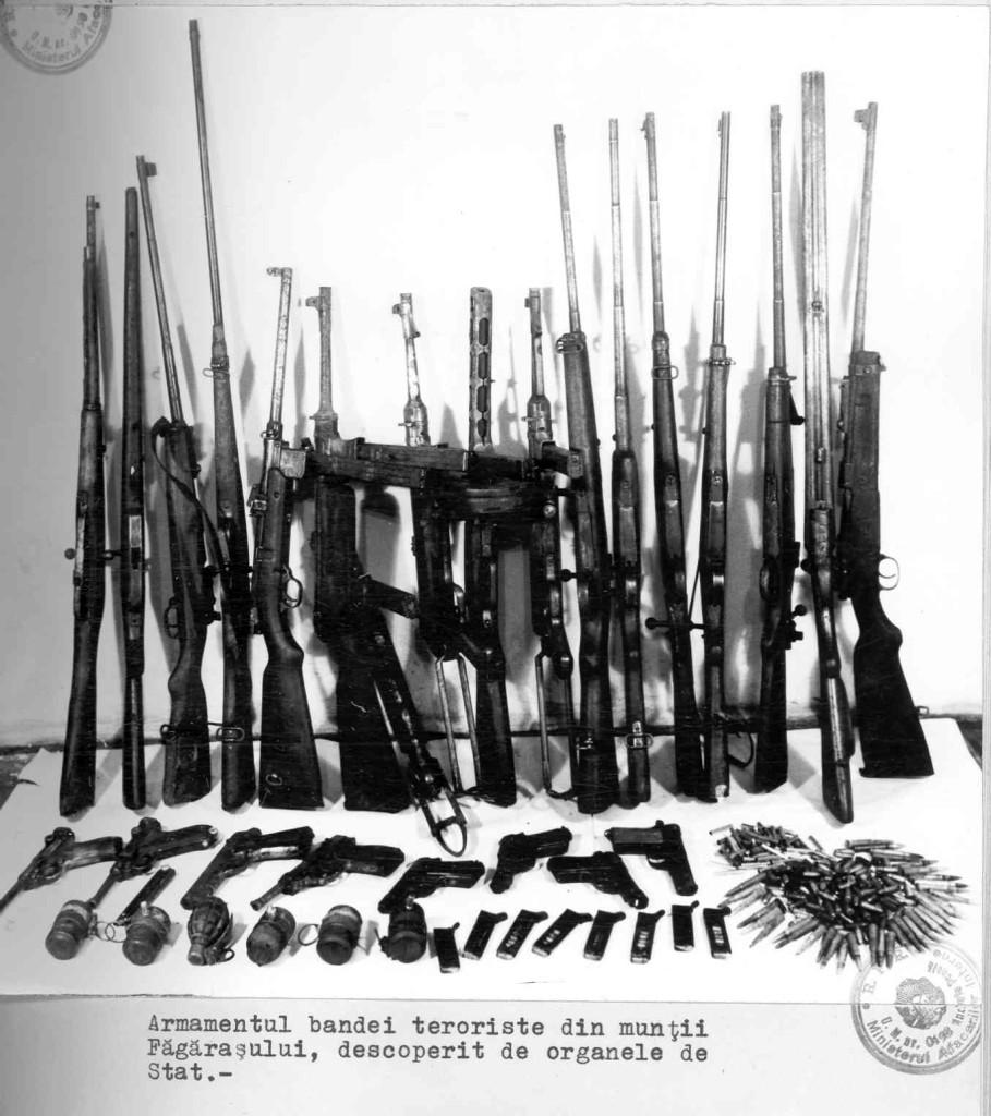 Armamentul Grupului Ion Gavrila Ogoranu la Cabana din Fagaras - CNSAS via Marturisitorii Ro