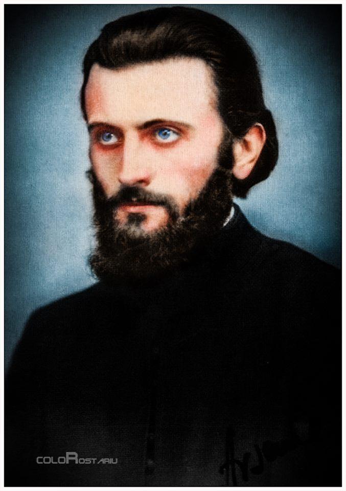 Arsenie Boca - Sfantul Ardealului - Foto colorata de Florin Rostariu - Istoria in culori
