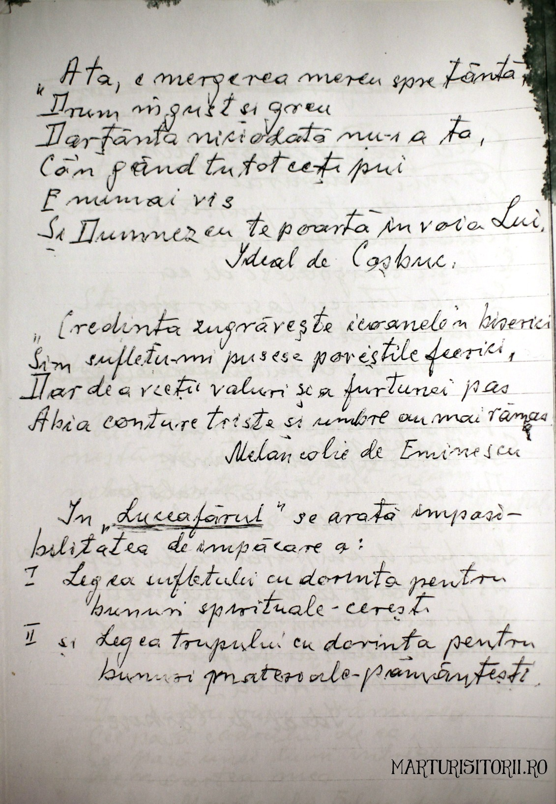 Insemanari de Traian Trifan despre Eminescu Crestinism Luceafarul Cosbuc - Marturisitorii Ro