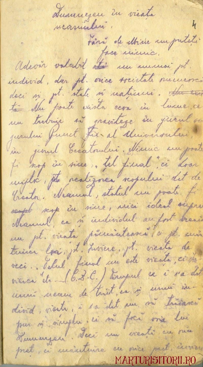 Dumnezeu in viata neamului - Fila de Manuscris din munti - Ion Gavrila Ogoranu - Marturisitorii Ro