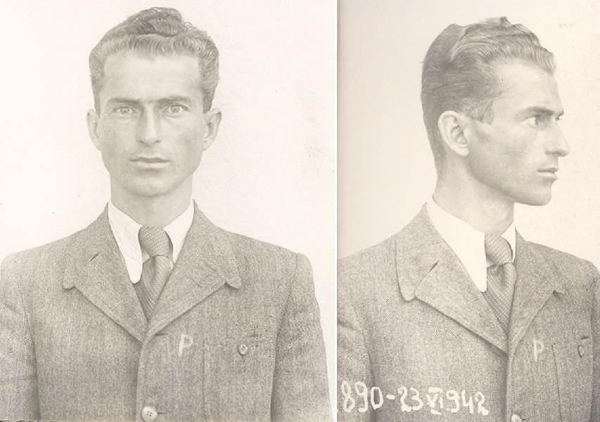 Tanarul Anghel Papacioc la prima arestare din 1942