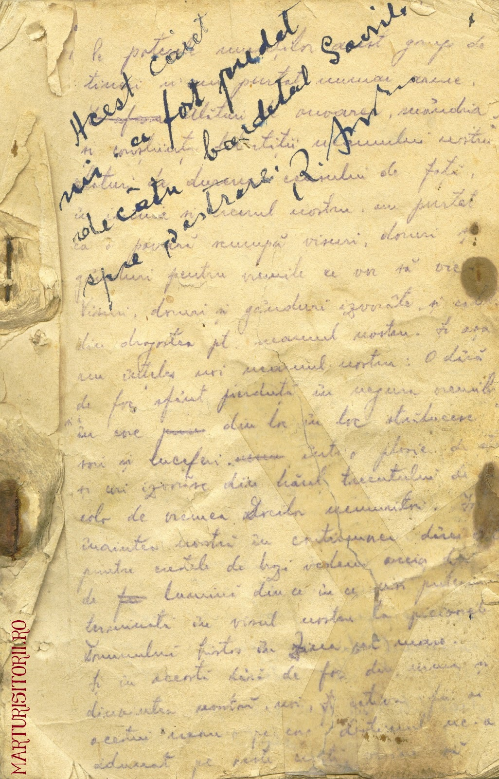 Testamentul Grupului Carpatin Fagarasan Ogoranu 1 - Manuscris CNSAS Marturisitorii Ro