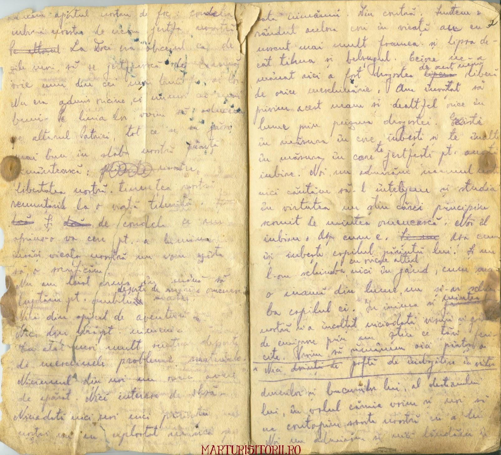Testamentul Grupului Carpatin Fagarasan Ogoranu 2 - Manuscris CNSAS Marturisitorii Ro