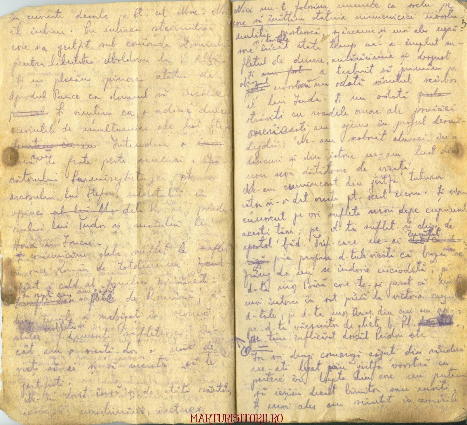 Testamentul Grupului Carpatin Fagarasan Ogoranu 3 - Manuscris CNSAS Marturisitorii Ro