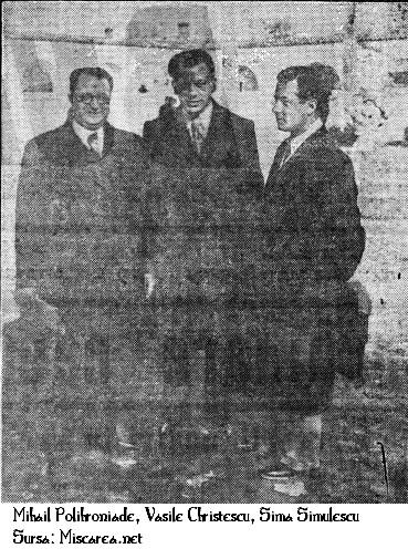 Mihail Polihroniade împreunã cu Prof. Vasile Christescu si Prof. Sima Simulescu