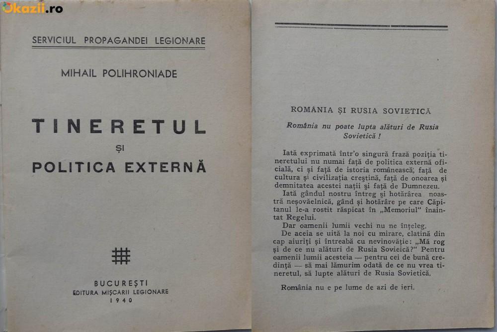 Mihail Polihroniade - Tineretul si Politica Externa - Romania si Rusia sovietica