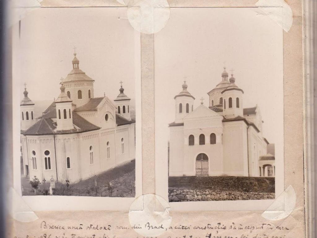 imagine cu vechea biserica din Brad (luata din condica parohiei avand insemnarile Pr. Virgil Perian--2