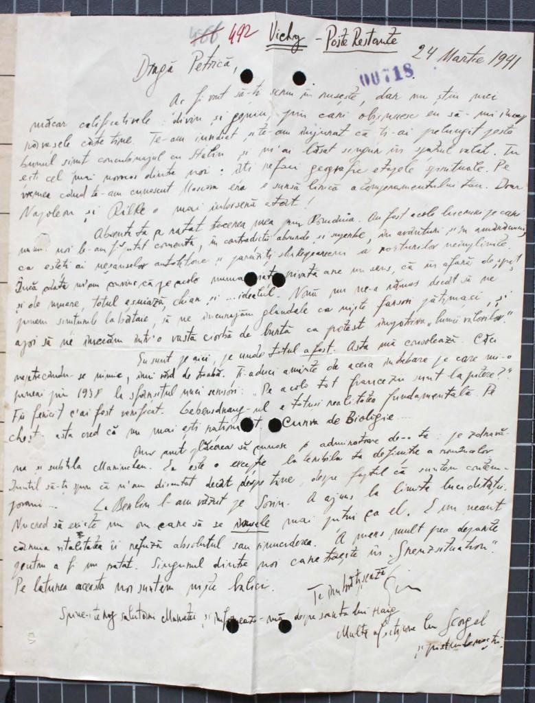 Emil.Cioran.catre.Petre.Tutea.1941.03.24.4.22