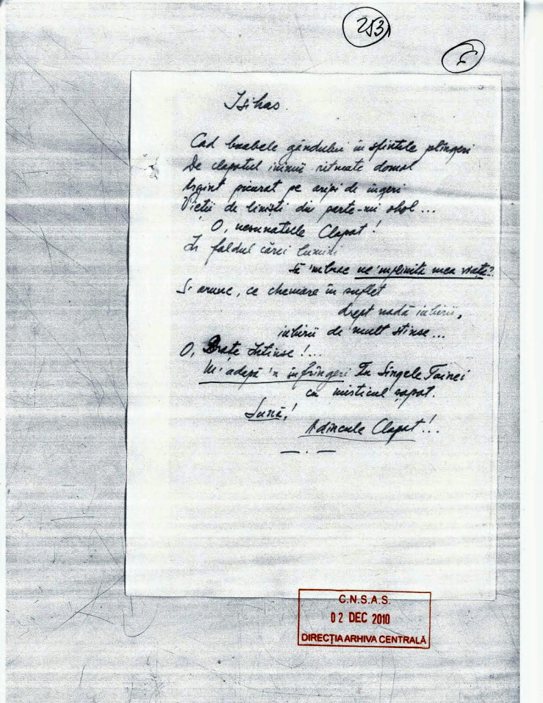 Caiet 6 - Isihas - Virgil Maxim - Poeme - CNSAS