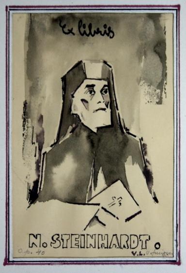 Nicolae Steinhardt vazut de Vespasian Lungu - Ex Libris
