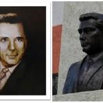 Bust al scriitorului Vasile Posteucă în satul său natal din nordul Bucovinei. FOTO / VIDEO