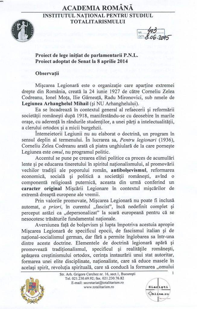 Academia Romana INST despre Miscarea Legionara 01 Iunie 2015 - Camera Deputatilor - Ziaristi Online