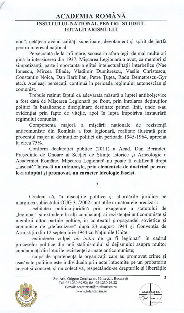 Academia Romana INST despre Miscarea Legionara 02 Iunie 2015 - Camera Deputatilor - Ziaristi Online