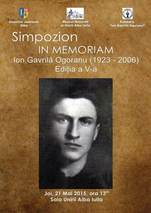 Afis Simpozion Ion Gavrila Ogoranu Alba Iulia 2015