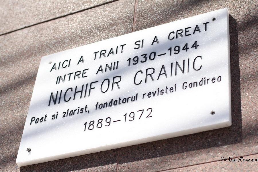 Placa Acad. Nichifor Crainic - Vasile Conta - 3-5 Bucuresti 2015 - Foto Victor Roncea