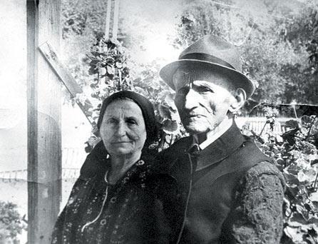 Elisabeta Rizea si sotul ei