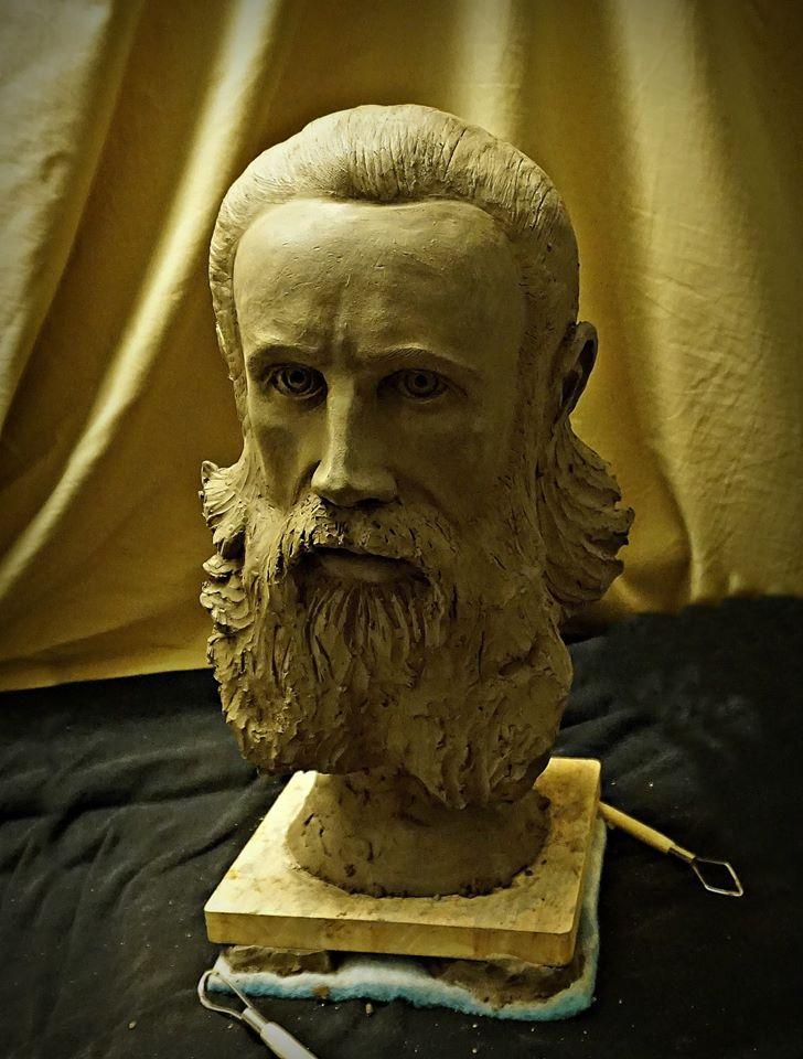 Parintele Arsenie Boca - de sculptorul Iulian Postolache 1
