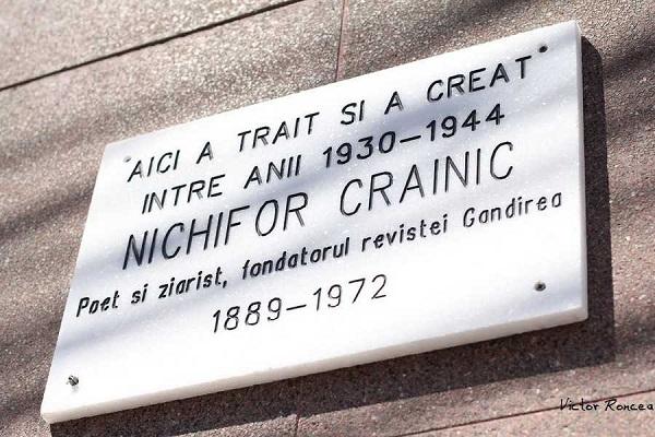 Placa-Acad.-Nichifor-Crainic Gandirea str Vasile Conta