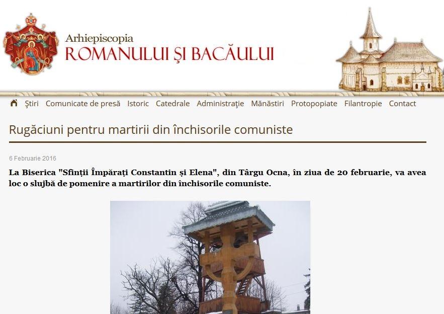 Rugaciuni pentru Valeriu Gafencu - Arhiepiscopia