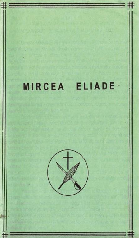 A. Ronnett despre Mircea Eliade