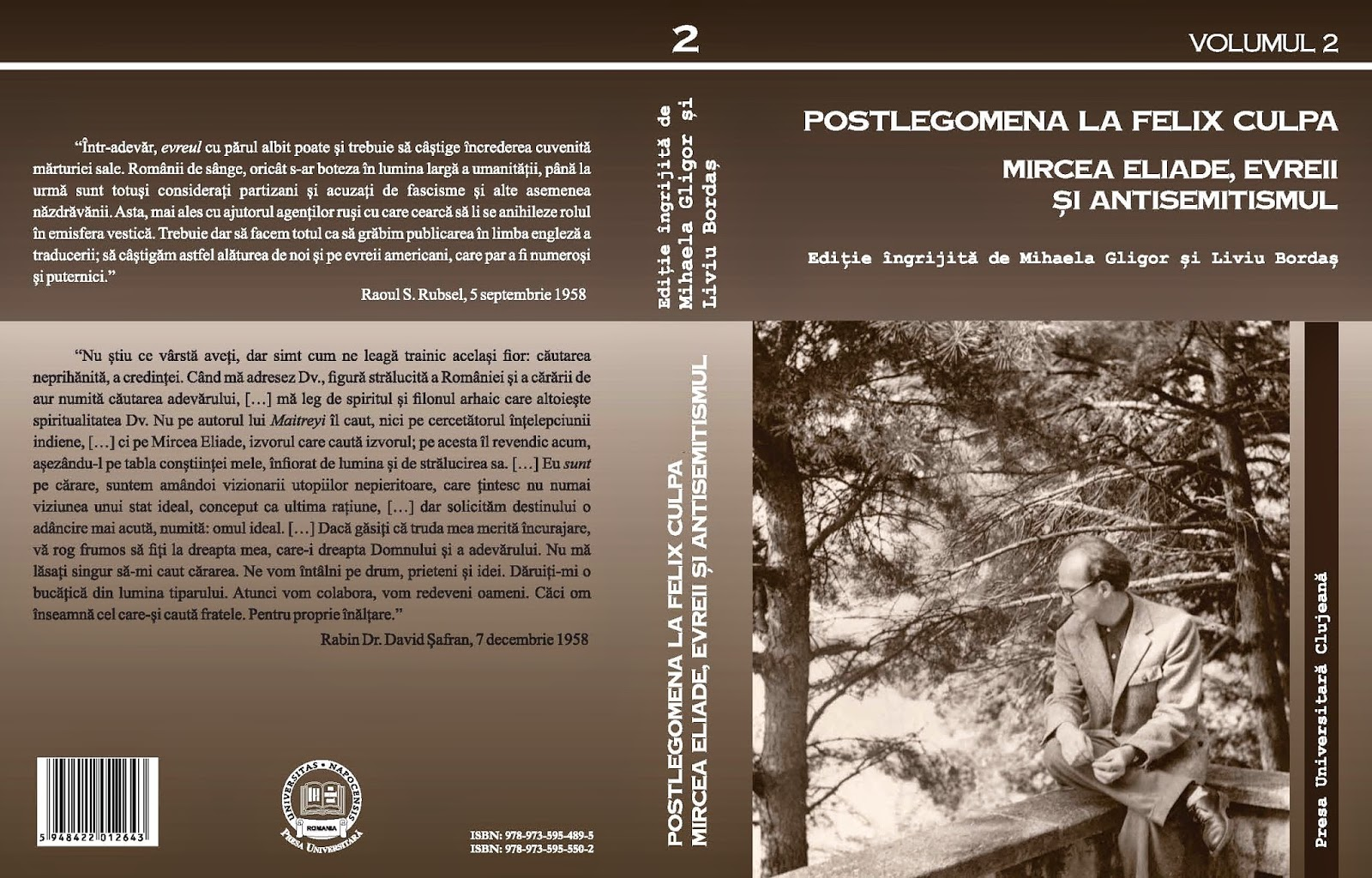 "Postlegomena la ""felix culpa"". Mircea Eliade, evreii şi antisemitismul vol. 2"