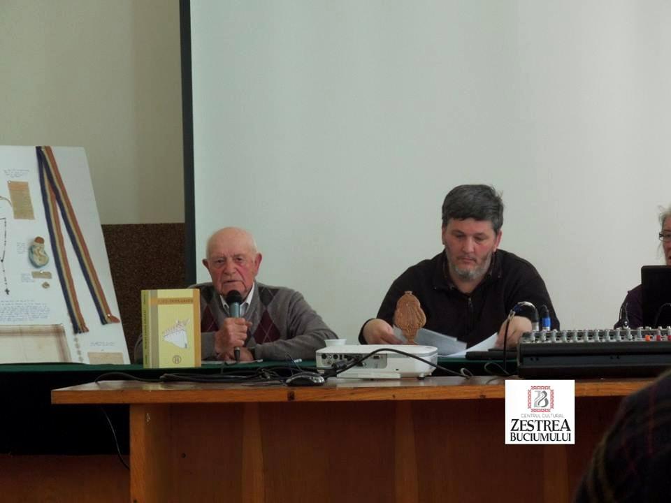 Detinutul politic Ioan Rosca si prof. Florin Palas la Conferinta Invierea Domnului in inchisorile comuniste