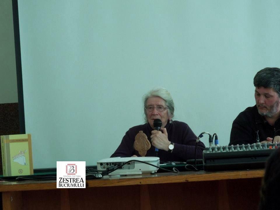 Dna Maria Trifan, fiica a marturisitorului Traian Trifan si prof Florin Palas