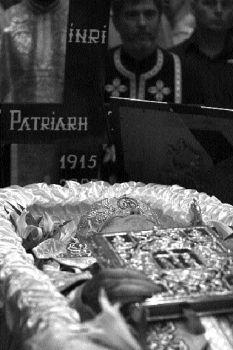 Patriarhul Teoctist pe catafalc