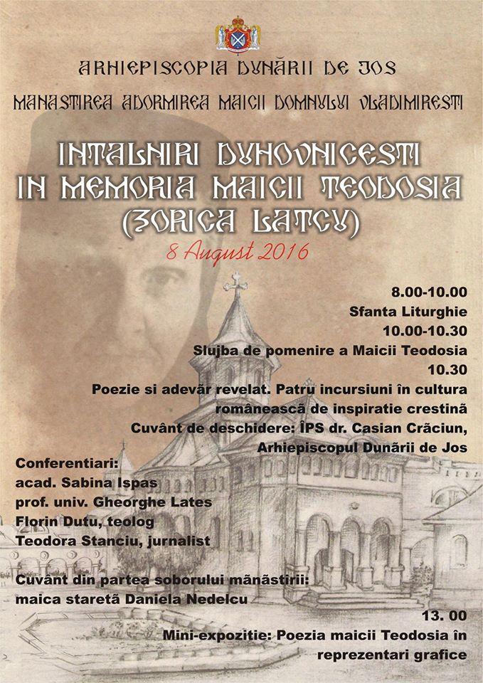 8 August - Manastirea Vladimiresti despre Zorica Lațcu-maica Teodosia