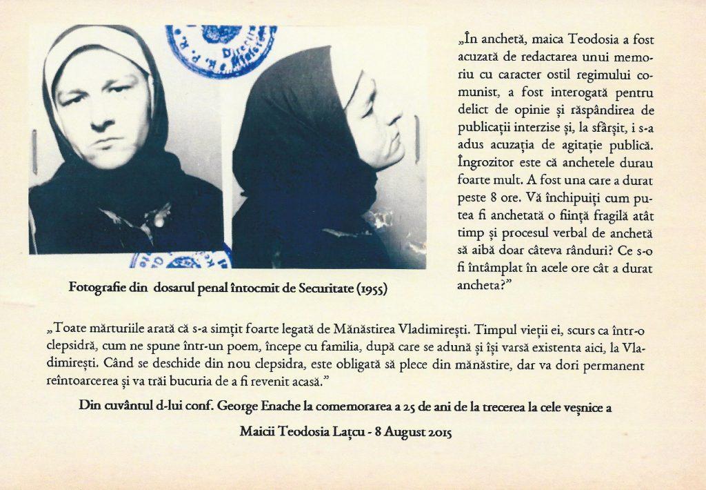 Simpozion maica Teodosia - Zorica Lațcu -in ancheta