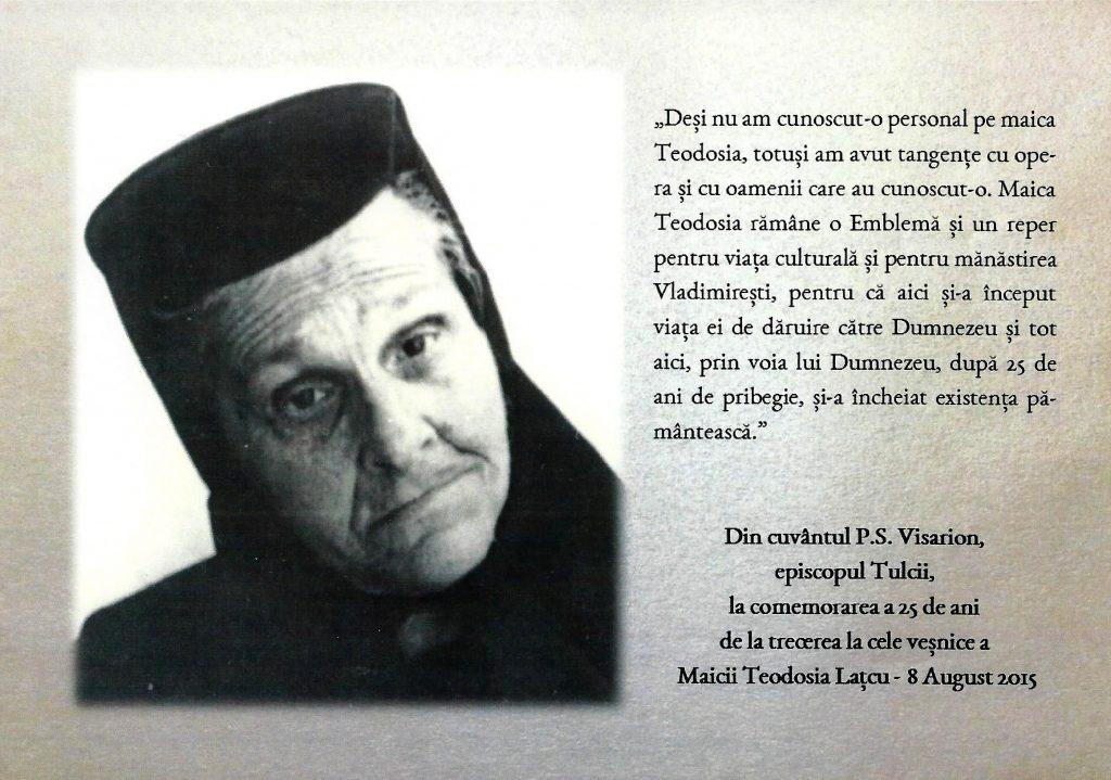 despre maica Teodosia - Zorica Lațcu