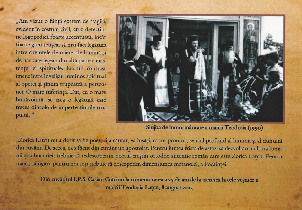 inmormantare maica Teodosia - Zorica Lațcu