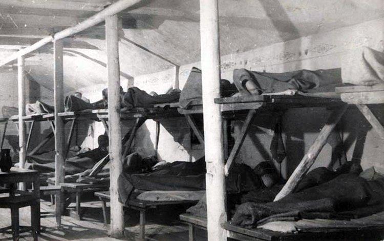 Workuta-ITL, Inneres einer Wohnbaracke. 1944