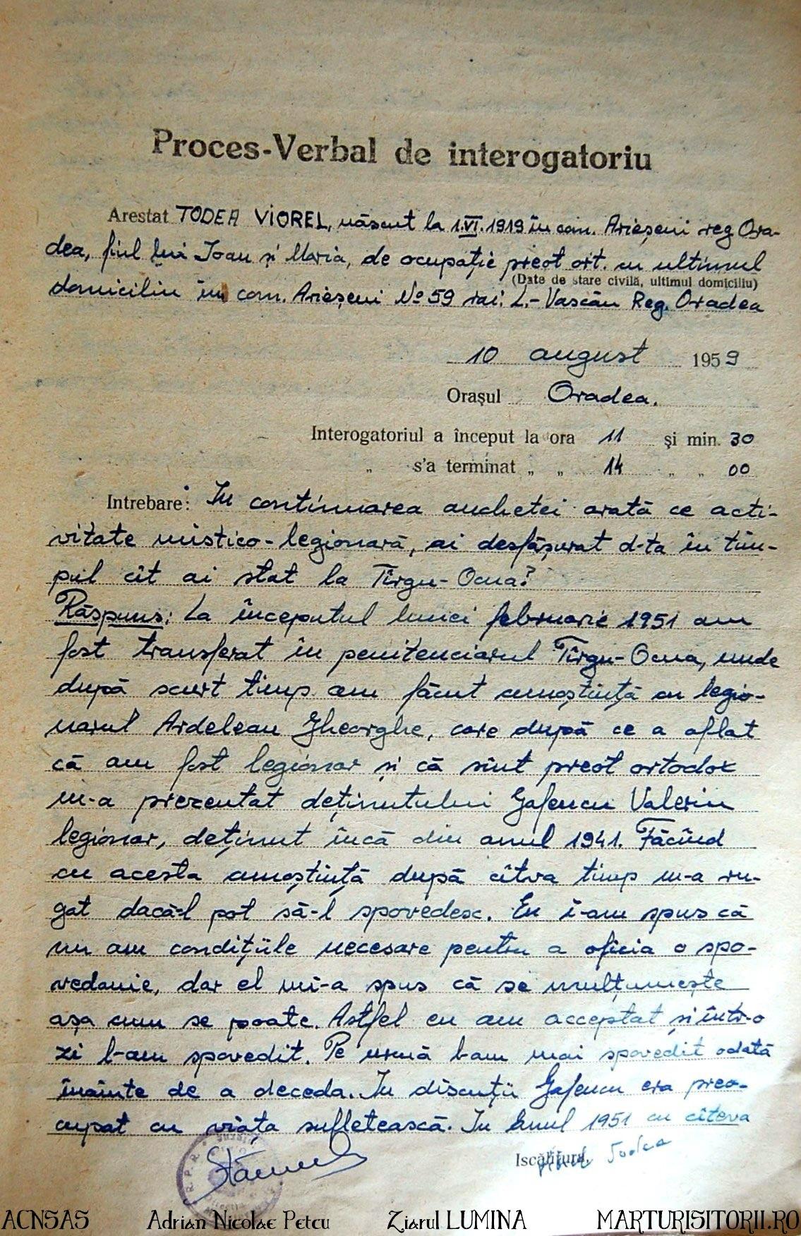 proces-verbal-interogatoriu-1959-v-todea_duhovnicul lui valeriu gafencu