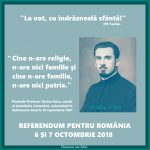 """""""Cine n-are religie, n-are nici familie și cine n-are familie, n-are nici patrie."""" – Părintele Ilarion Felea, martir pentru Hristos în temnițele bolșevice, exterminat în închisoarea Aiud la 18 septembrie 1961"""